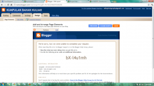 Ada apa dengan  bX-l4u1mh page elements pada blogspot