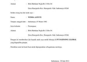 Download Contoh Surat Izin Orang Tua