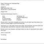Contoh Surat Izin Tidak Masuk Kerja Terlengkap Berbagai Keperluan