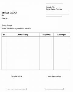 Contoh Surat Jalan Yang Baik Dan Benar Contoh Surat