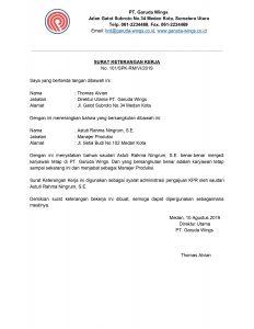 Contoh Surat Keterangan Karyawan Untuk Segala Keperluan MPSSOFT Blog