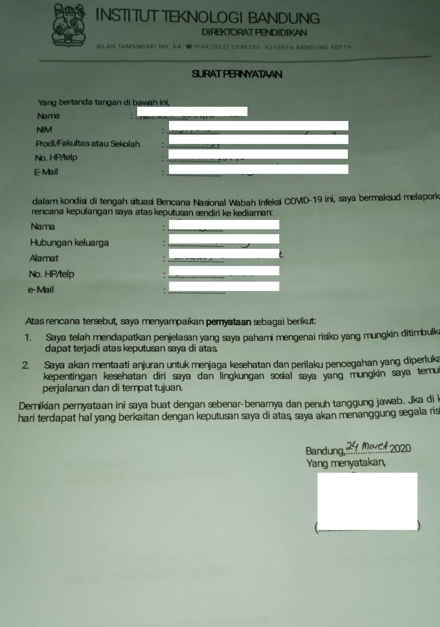 Contoh Surat Keterangan Kerja Untuk Psbb