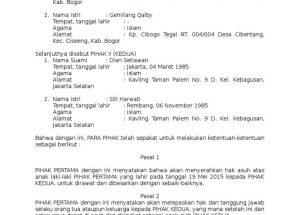 Download Contoh Surat Adopsi Anak