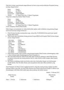 Contoh Surat Perjanjian Hutang Piutang Pelunasannya Diatas