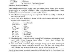 Download Gratis Contoh Surat Hutang Piutang