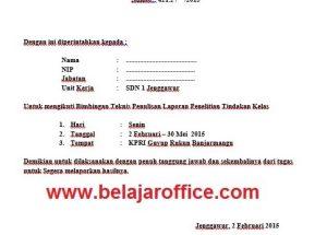Download Contoh Surat Jalan Tugas