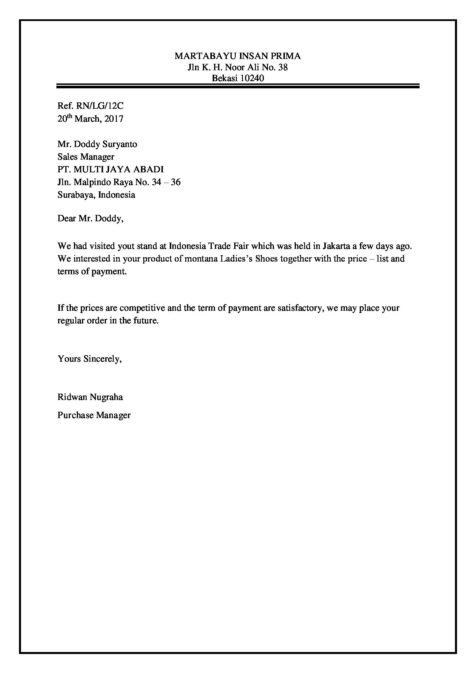 Full Block Style Letter Readtillend