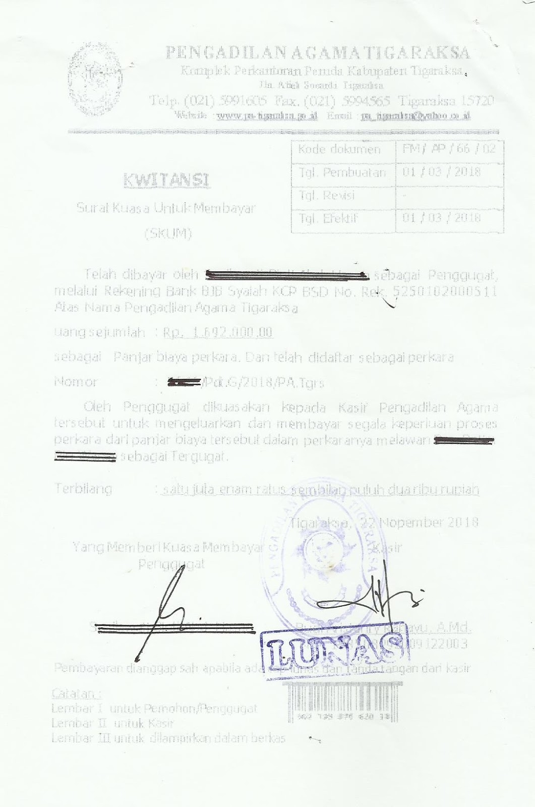 Download Gratis Contoh Surat Gugatan Cerai