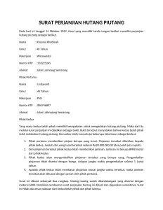 Pengertian Surat Perjanjian Hutang Manfaat Contohnya Dan Cara