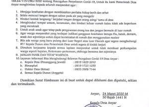 Download Contoh Surat Himbauan