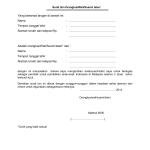 Surat Izin Orangtua Wali Suami Isteri