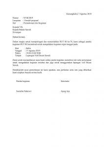 Surat Lengkap Contoh Surat Permohonan Izin Kegiatan Bazar