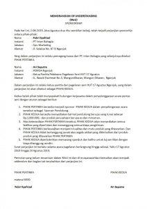 Surat Perjanjian MoU Sekolah Dengan Perusahaan DetikLife