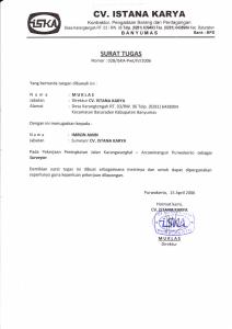 Surat Tugas Surveyor